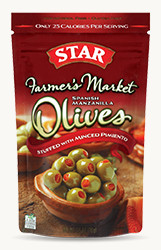 Spanish Manzanilla Olives Stuffed with Minced Pimiento - Buy Now